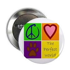 """Perfect World: Dogs - 2.25"""" Button (100 pack)"""