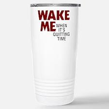 Wake Me Stainless Steel Travel Mug