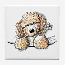 Bailey's Irish Crm Doodle Tile Coaster