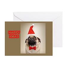 Pug Santa Greeting Cards (Pk of 10)