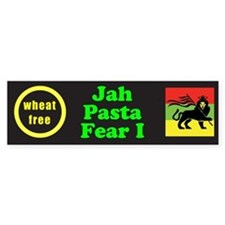 Jah Pasta Fear I No Wheat Bumper Bumper Sticker