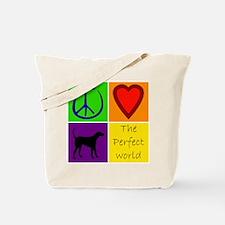 Perfect World: Black Lab - Tote Bag