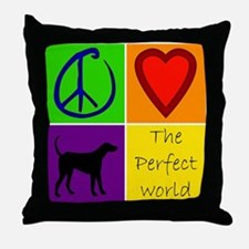 Perfect World: Black Lab - Throw Pillow