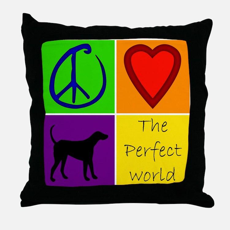 Perfect World: Black Lab - Throw Pillow