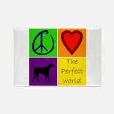 Perfect World: Black Lab - Rectangle Magnet
