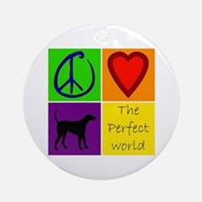 Perfect World: Black Lab - Ornament (Round)