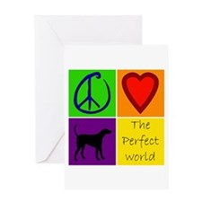 Perfect World: Black Lab - Greeting Card