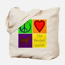Perfect World: Chocolate Lab - Tote Bag