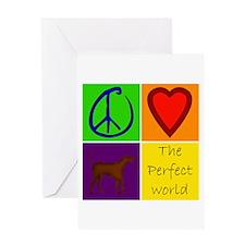 Perfect World: Chocolate Lab - Greeting Card