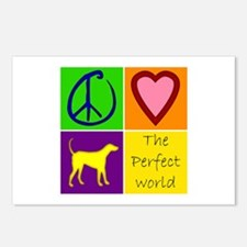 Perfect World: Yellow Lab - Postcards (Package of