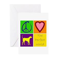 Perfect World: Yellow Lab - Greeting Card