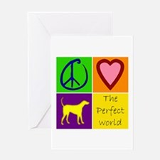 Perfect World: Yellow Lab - Greeting Card