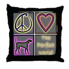 Perfect World: Labrador Retri Throw Pillow