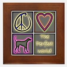 Perfect World: Labrador Retri Framed Tile