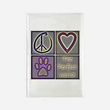 Perfect World: Dogs (ALT) - Rectangle Magnet (100