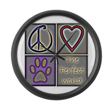 Perfect World: Dogs (ALT) - Large Wall Clock