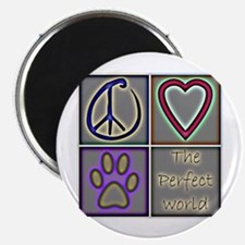 "Perfect World: Dogs (ALT) - 2.25"" Magnet (10 pack)"