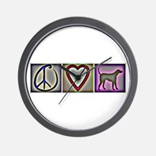 Peace Love Labrador Retrievers - Wall Clock