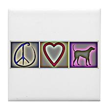 Peace Love Labrador Retrievers - Tile Coaster
