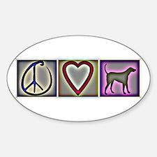 Peace Love Labrador Retrievers - Oval Decal