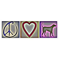 Peace Love Labrador Retrievers - Bumper Bumper Sticker