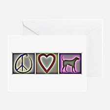 Peace Love Labrador Retrievers - Greeting Card