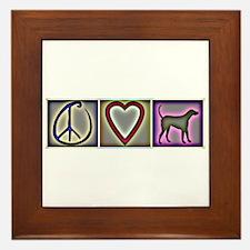 Peace Love Labrador Retrievers - Framed Tile