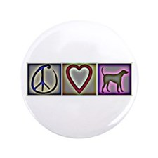 "Peace Love Labrador Retrievers - 3.5"" Button"