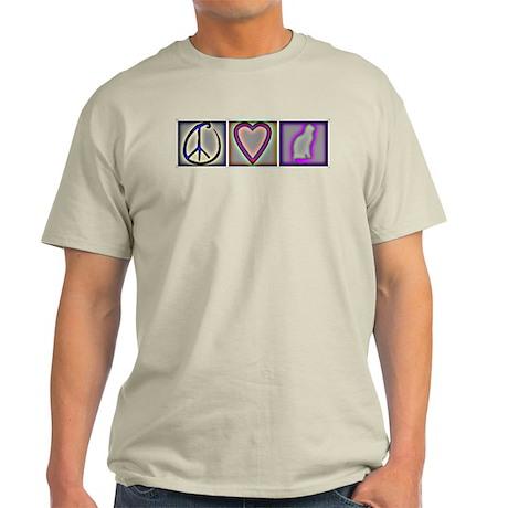 Peace Love Cats (ALT) - Light T-Shirt