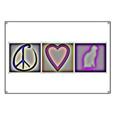 Peace Love Cats (ALT) - Banner