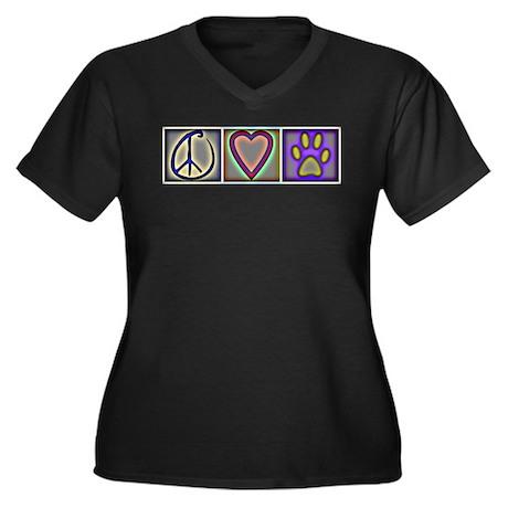 Peace Love Dogs (ALT) - Women's Plus Size V-Neck D