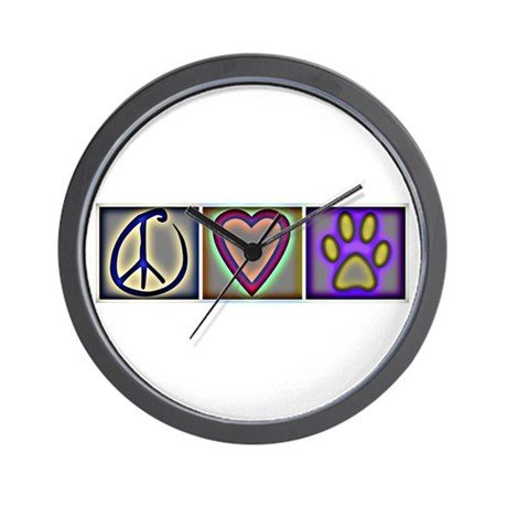 Peace Love Dogs (ALT) - Wall Clock
