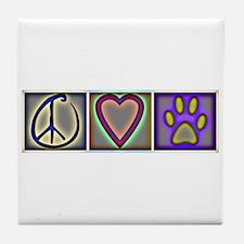 Peace Love Dogs (ALT) - Tile Coaster