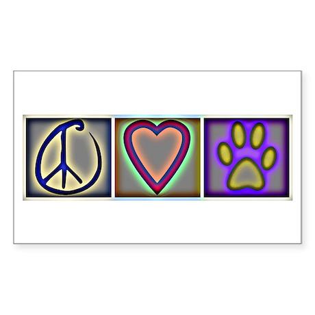 Peace Love Dogs (ALT) - Rectangle Sticker 10 pk)