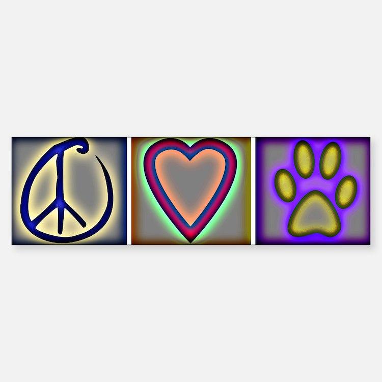 Peace Love Dogs (ALT) - Bumper Bumper Bumper Sticker