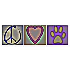 Peace Love Dogs (ALT) - Bumper Bumper Stickers