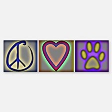 Peace Love Dogs (ALT) - Bumper Bumper Stickers