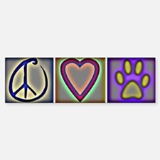 Peace Love Dogs (ALT) - Bumper Car Car Sticker