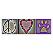 Peace Love Dogs (ALT) - Bumper Stickers
