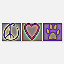 Peace Love Dogs (ALT) - Bumper Sticker (10 pk)