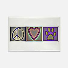 Peace Love Dogs (ALT) - Rectangle Magnet