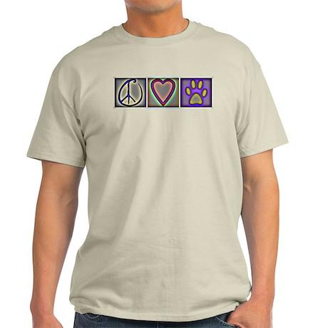 Peace Love Dogs (ALT) - Light T-Shirt
