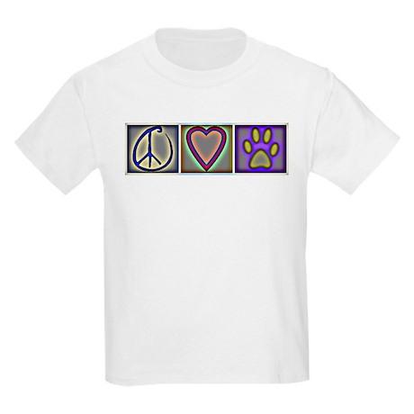 Peace Love Dogs (ALT) - Kids Light T-Shirt