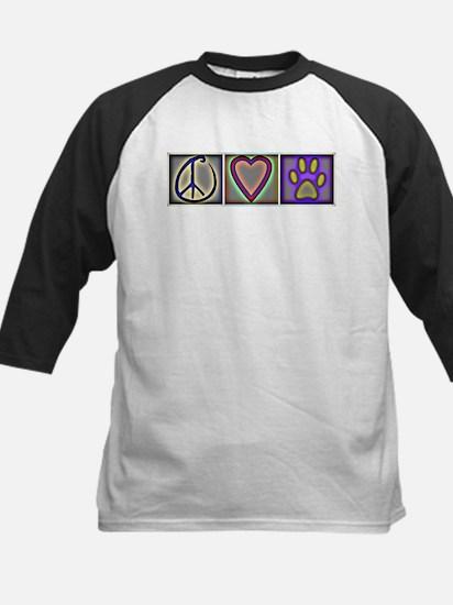 Peace Love Dogs (ALT) - Kids Baseball Jersey