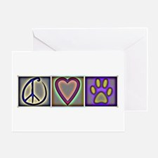 Peace Love Dogs (ALT) - Greeting Card
