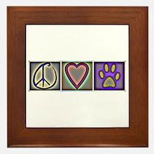Peace Love Dogs (ALT) - Framed Tile