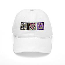Peace Love Dogs (ALT) - Baseball Baseball Cap