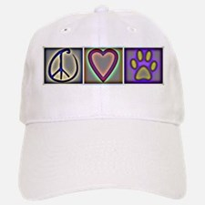 Peace Love Dogs (ALT) - Baseball Baseball Cap