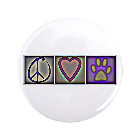 "Peace Love Dogs (ALT) - 3.5"" Button (100 pack)"