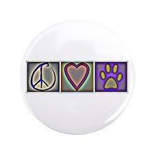"""Peace Love Dogs (ALT) - 3.5"""" Button"""